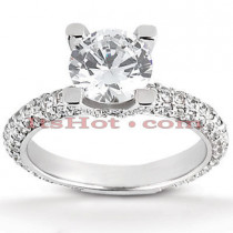 18K Gold Diamond Engagement Ring Setting 0.87ct
