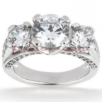 18K Gold Diamond Engagement Ring Setting 0.98ct