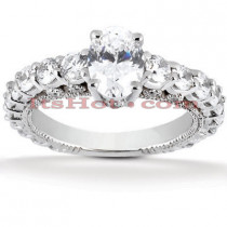 18K Gold Diamond Engagement Ring Setting 1.30ct