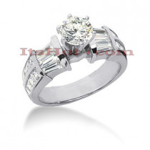 18K Gold Diamond Engagement Ring Setting 2.12ct