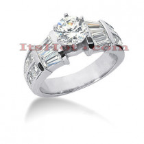18K Gold Diamond Engagement Ring Setting 2ct