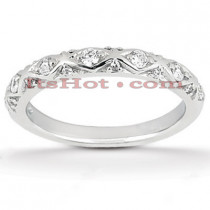 Thin 18K Gold Diamond Engagement Wedding Ring 0.13ct