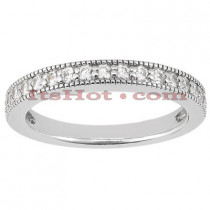 Thin 18K Gold Diamond Engagement Wedding Ring 0.23ct