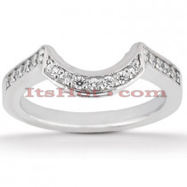 Thin 18K Gold Diamond Engagement Wedding Ring 0.24ct