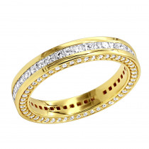 18K Gold Diamond Eternity Band 1.93ct