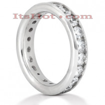 18K Gold Diamond Eternity Band 2.20ct
