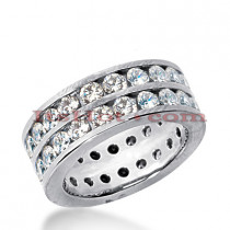 18K Gold Diamond Eternity Band 3.08ct