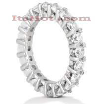 Thin 18K Gold Diamond Eternity Band 3.10ct