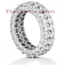 18K Gold Diamond Eternity Band 4.40ct