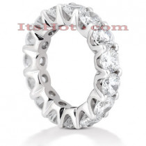 18K Gold Diamond Eternity Band 6.75ct