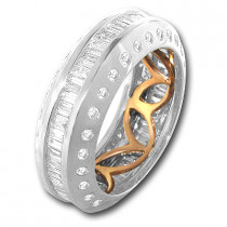 18K Gold Diamond Eternity Bands Collection Item 1.84ct