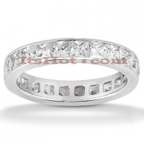 Thin 18K Gold Diamond Eternity Ring 3.57ct