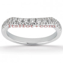 Thin 18K Gold Diamond Wedding Band 0.33ct