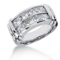 18K Gold Ladies Diamond Ring 2.70ct