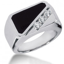 18K Gold Men's Diamond Ring 0.15ct