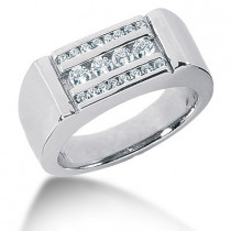 18K Gold Men's Diamond Ring 0.56ct