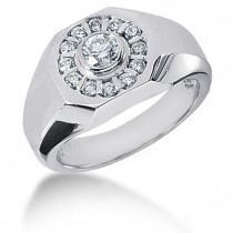 18K Gold Men's Diamond Ring 0.71ct