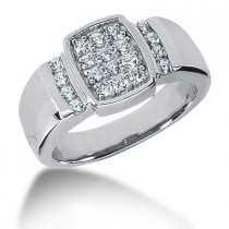 18K Gold Men's Diamond Ring 0.80ct