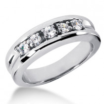 18K Gold Men's Diamond Wedding Band 0.50ct
