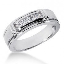 18K Gold Men's Diamond Wedding Ring 0.50ct