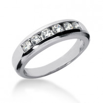 18K Gold Men's Diamond Wedding Ring 0.60ct