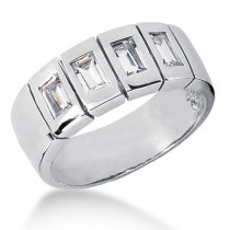 18K Gold Men's Diamond Wedding Ring 0.80ct