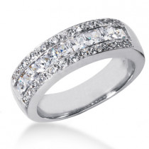 18K Gold Men's Diamond Wedding Ring 1.65ct