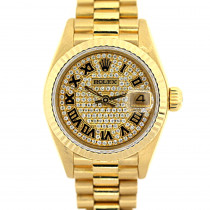 18K Gold Rolex Presidential Datejust Diamond Watch for Women 2ct