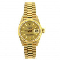 18K Gold Rolex Presidential Datejust Ladies Watch
