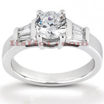 18K Gold Round Diamond Engagement Ring 0.95ct