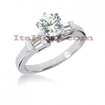 18K Gold Round Diamond Engagement Ring 1.03ct