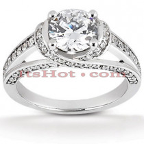 18K Gold Round Diamond Engagement Ring 1.16ct