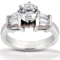 18K Gold Round Diamond Engagement Ring 1.23ct