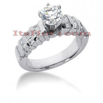 18K Gold Round Diamond Engagement Ring 1.47ct