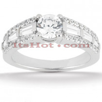 18K Gold Round Diamond Engagement Ring 1.63ct