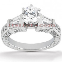 18K Gold Round Diamond Engagement Ring 1.68ct