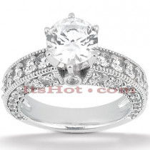 18K Gold Round Diamond Engagement Ring 2.25ct