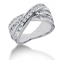 18K Gold Round Diamond Ladies Ring 1.19ct