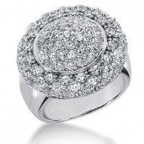 18K Gold Round Diamond Ladies Ring 2.52ct