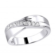 18K Gold Women's Diamond Wedding Ring 0.27ct