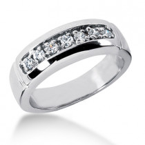 18K Gold Women's Diamond Wedding Ring 0.28ct