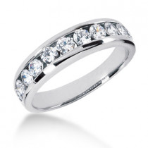 18K Gold Women's Diamond Wedding Ring 1.10ct