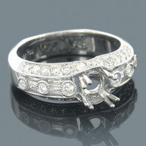 18K White Gold Diamond Engagement Ring Setting 0.82ct