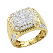2 Carat Diamond Pinky Ring or Wedding Band for Men in 10K Gold by Luxurman