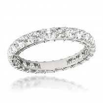 2 Carat Platinum Asscher Cut Diamond Eternity Band Diamond Anniversary Ring