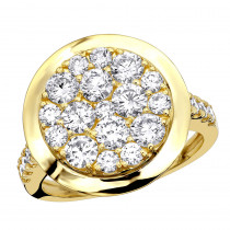 4 Carat Mens Diamond Engagement Ring 14k Gold