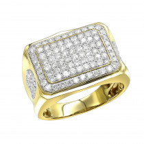 Affordable 10K Gold Diamond Ring for Men 2 Carat Band by Luxurman