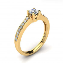 Affordable 14K Gold Round Diamond Engagement Ring 0.5ct