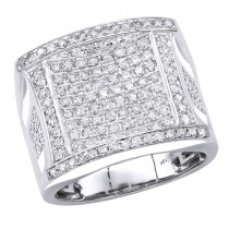 Affordable 2 Carat Statement Mens Diamond Ring by  Luxurman in 10k Gold