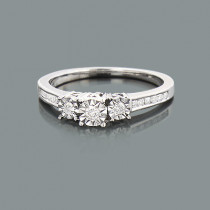 Affordable Diamond Engagement Ring 0.29ct 10K Promise Rings